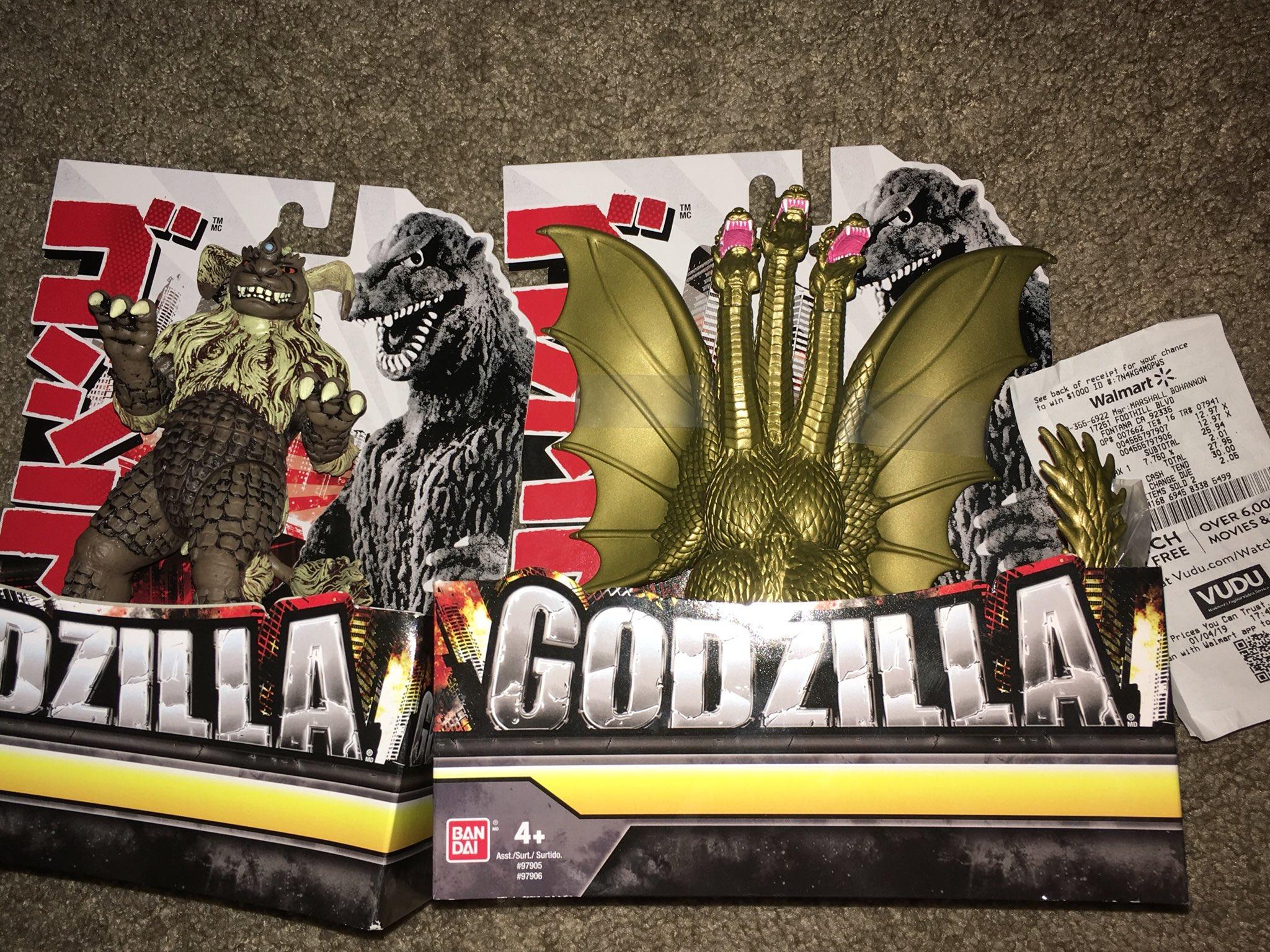 Godzilla 6 inch vinyls spotted at Walmart  GODZILLA