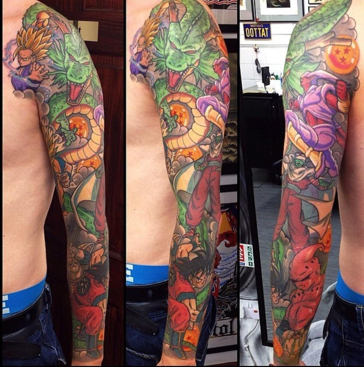 Dragon Ball Z Sleeve Tattoos