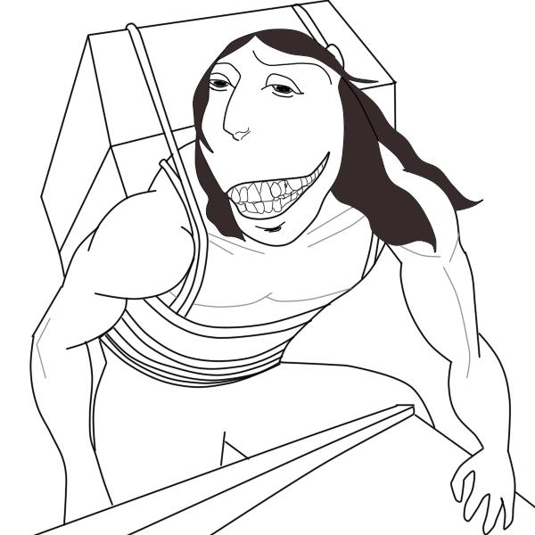 [MANGA SPOILERS] Reimagined crackhead titan : ShingekiNoKyojin