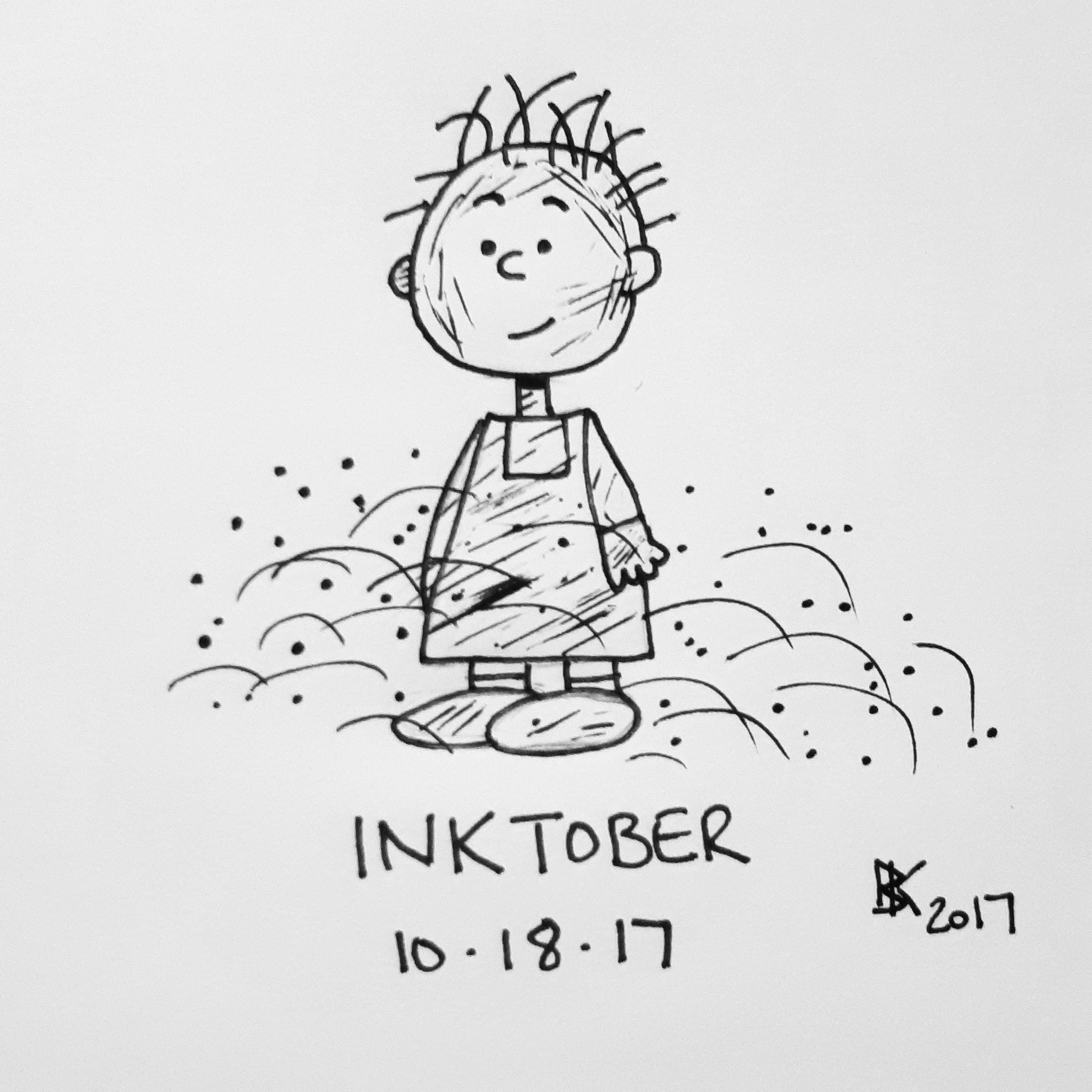 Inktober Day 18 Did A Cute Little Pig Pen Drawing
