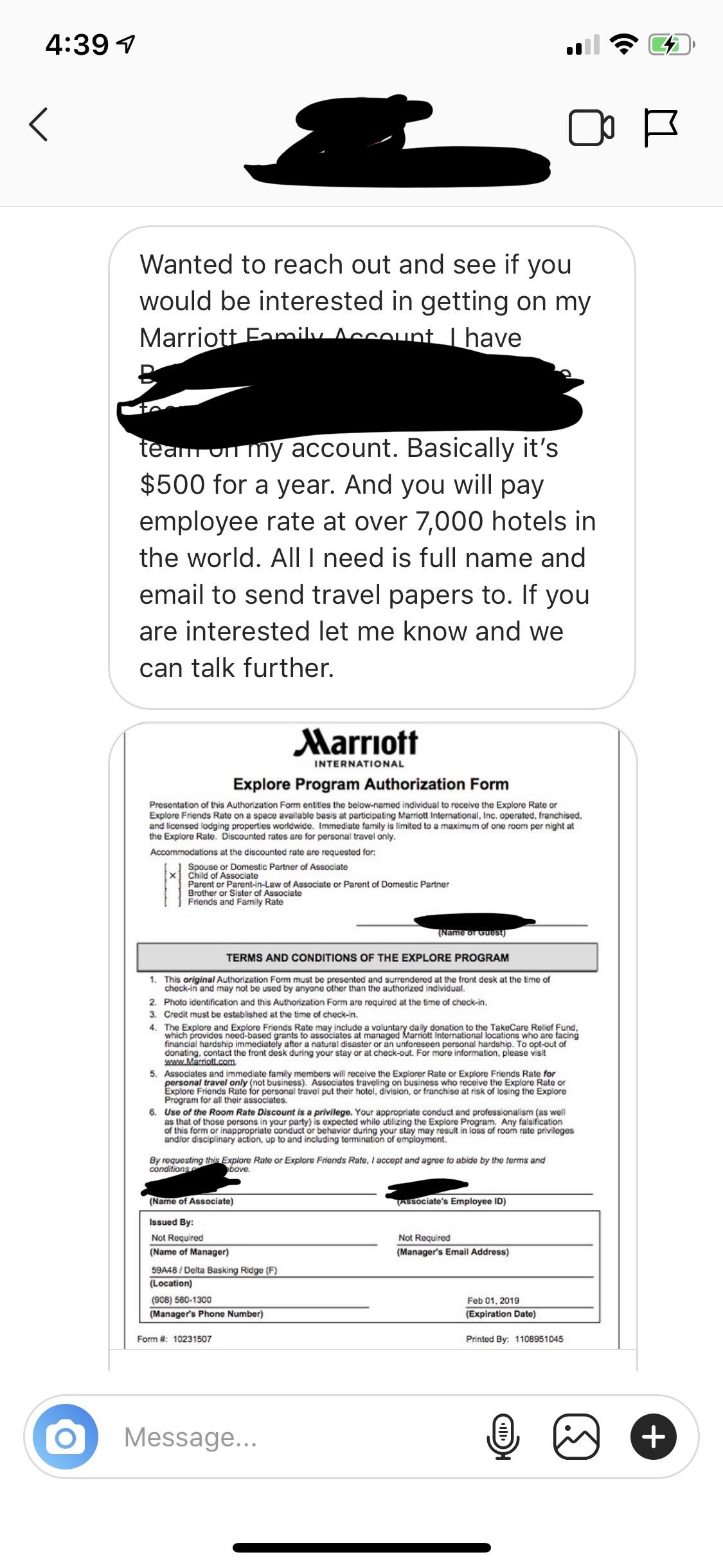 Marriott Friends And Family : marriott, friends, family, Scam?, Invited, Random, Person, Marriott, Family, Account., Scams