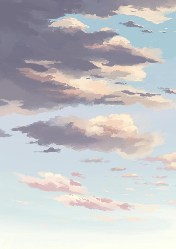 A sky I painted. Thought it looked good as a wallpaper.