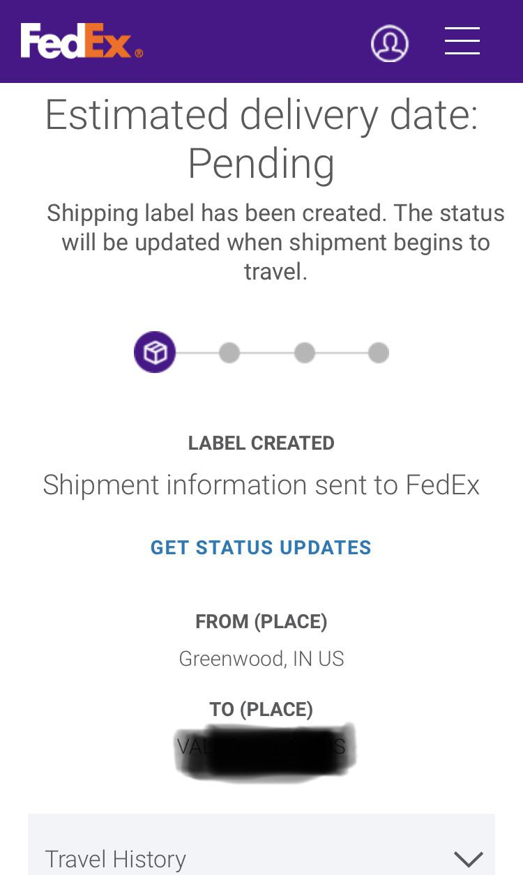 Fedex Label Created But Not Shipped : fedex, label, created, shipped, Pending, Delivery, Date., Shipment, Information, FedEx, Travel, History, Gives?