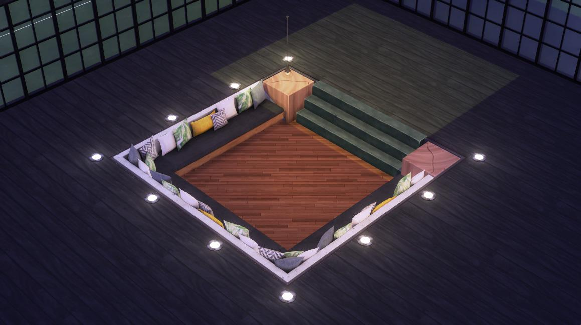 how to create a sofa pit sims4
