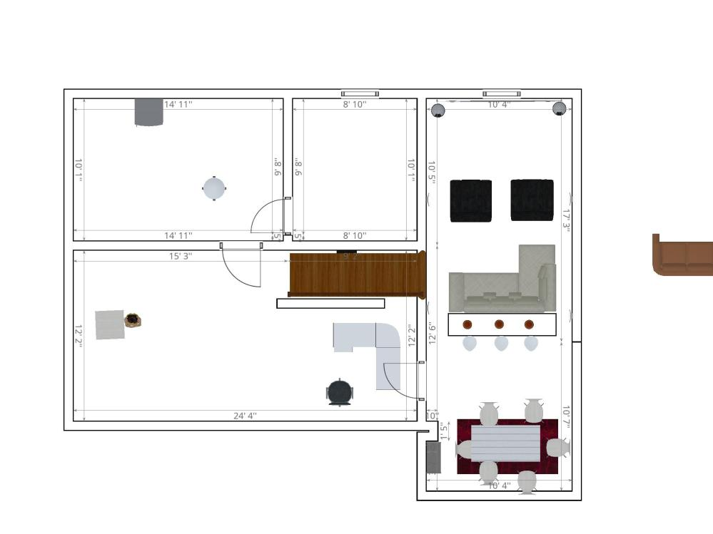 medium resolution of install placementany thoughts on this home theater set up room on the right is it too narrow should i move it s left wall over to the left