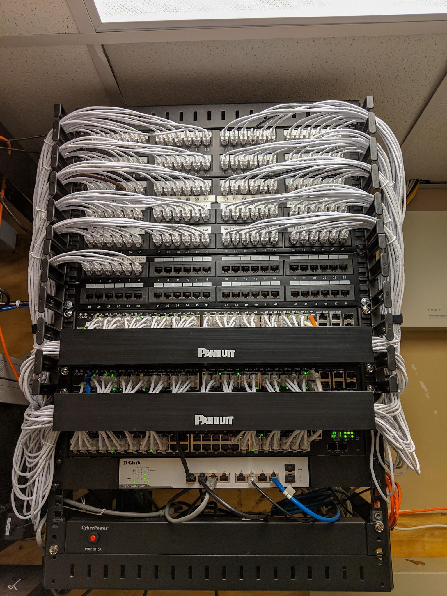 cable management in the data rack