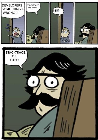 Stacktrace or GTFO : ProgrammerHumor