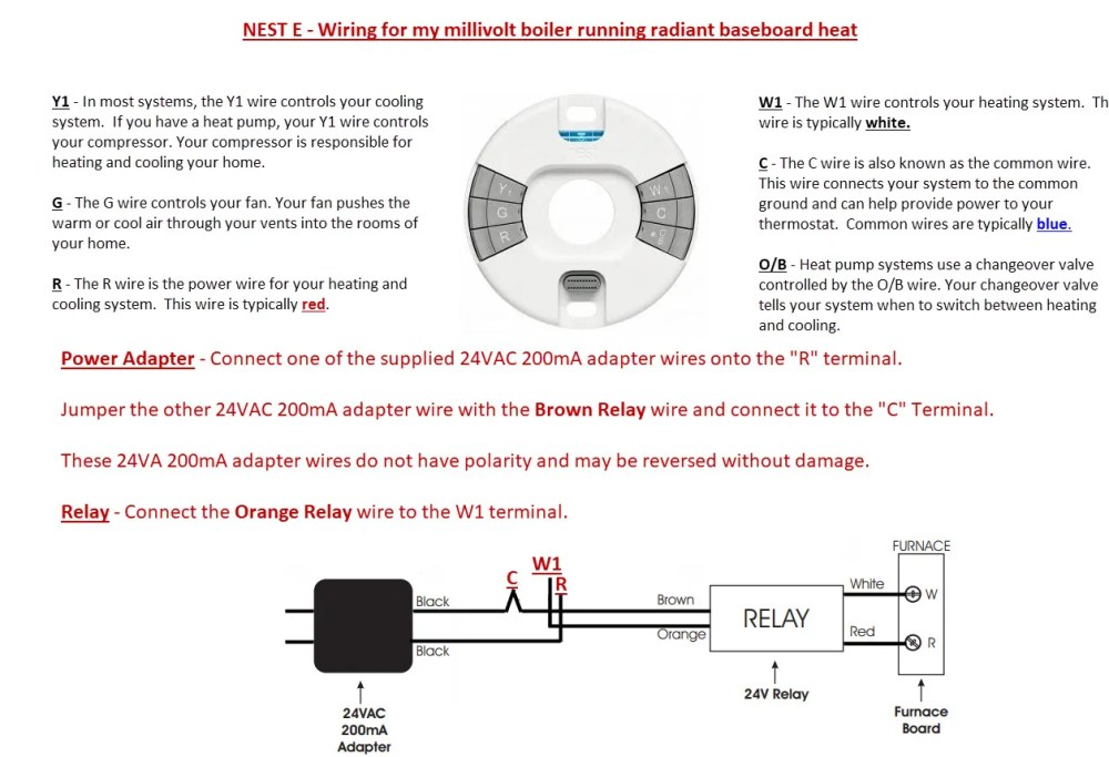 medium resolution of thermostatconnected nest e to old millivolt lp water boiler radiant heat