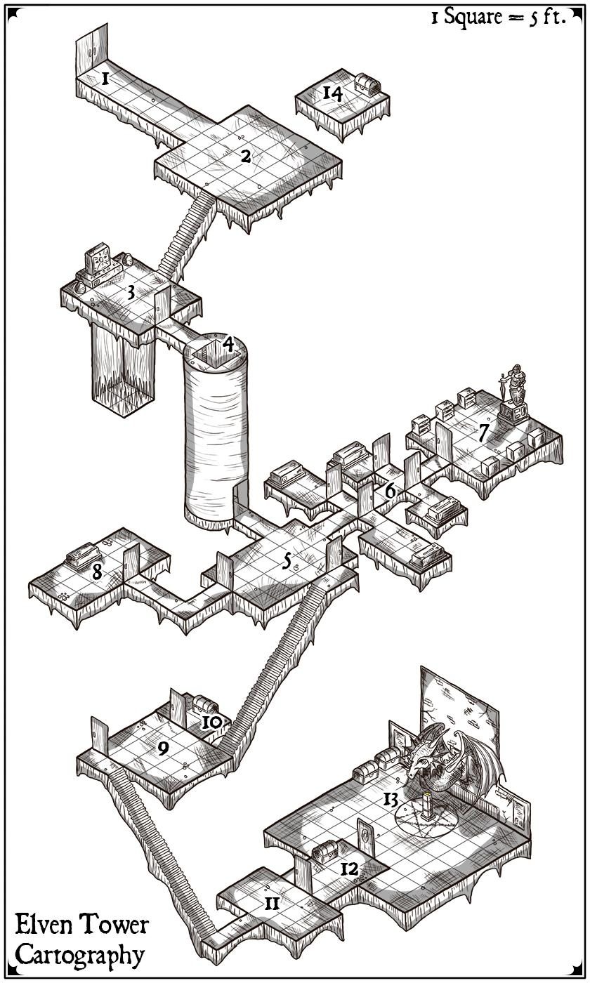 [OC] Just finished this isometric underground dungeon