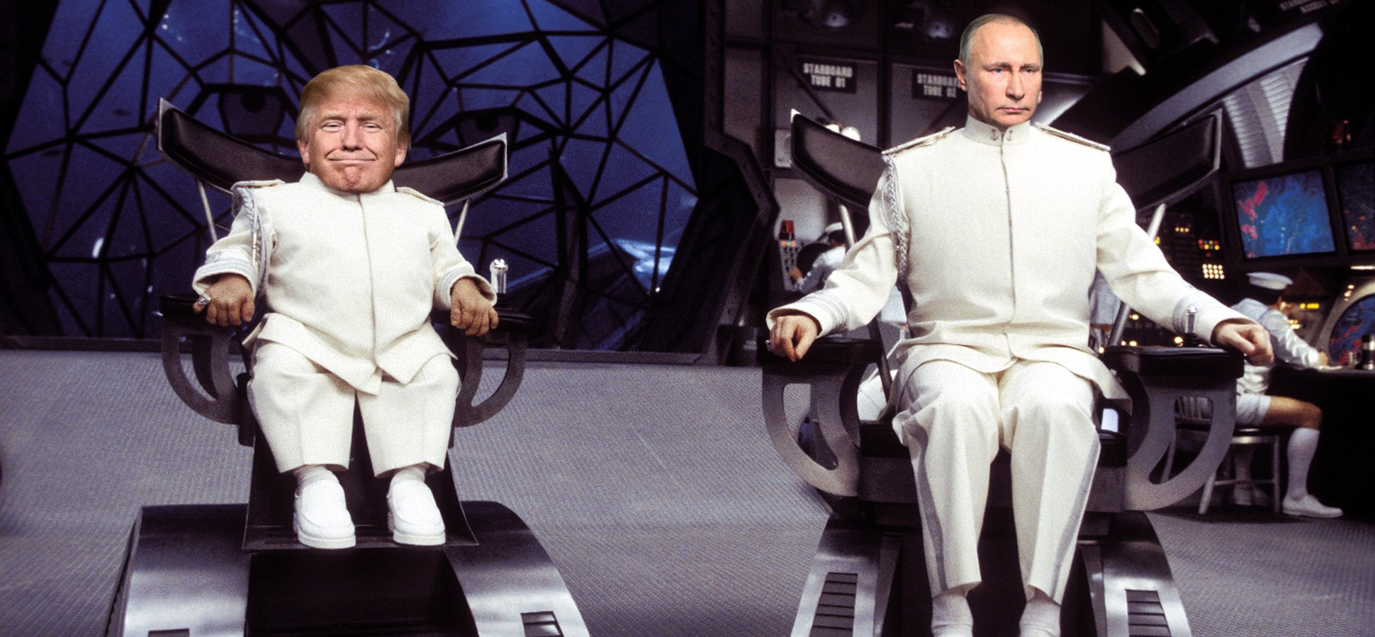 dr evil chair counter height folding chairs the real and mini me pics us politicsthe