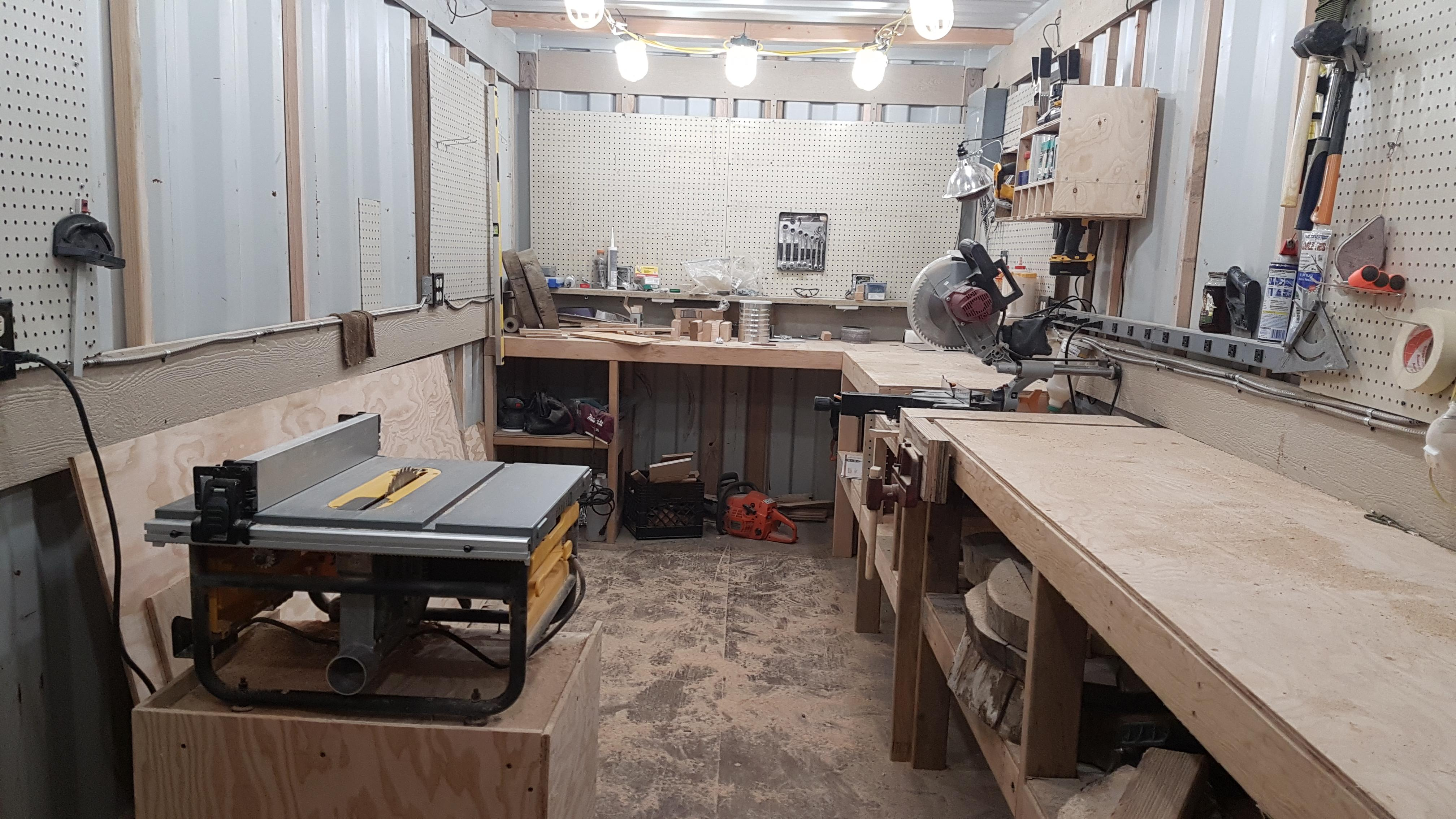 Best Kitchen Gallery: My Dad And I Turned A Shipping Container Into A Wood Shop Woodworking of Shipping Container Workshop on rachelxblog.com
