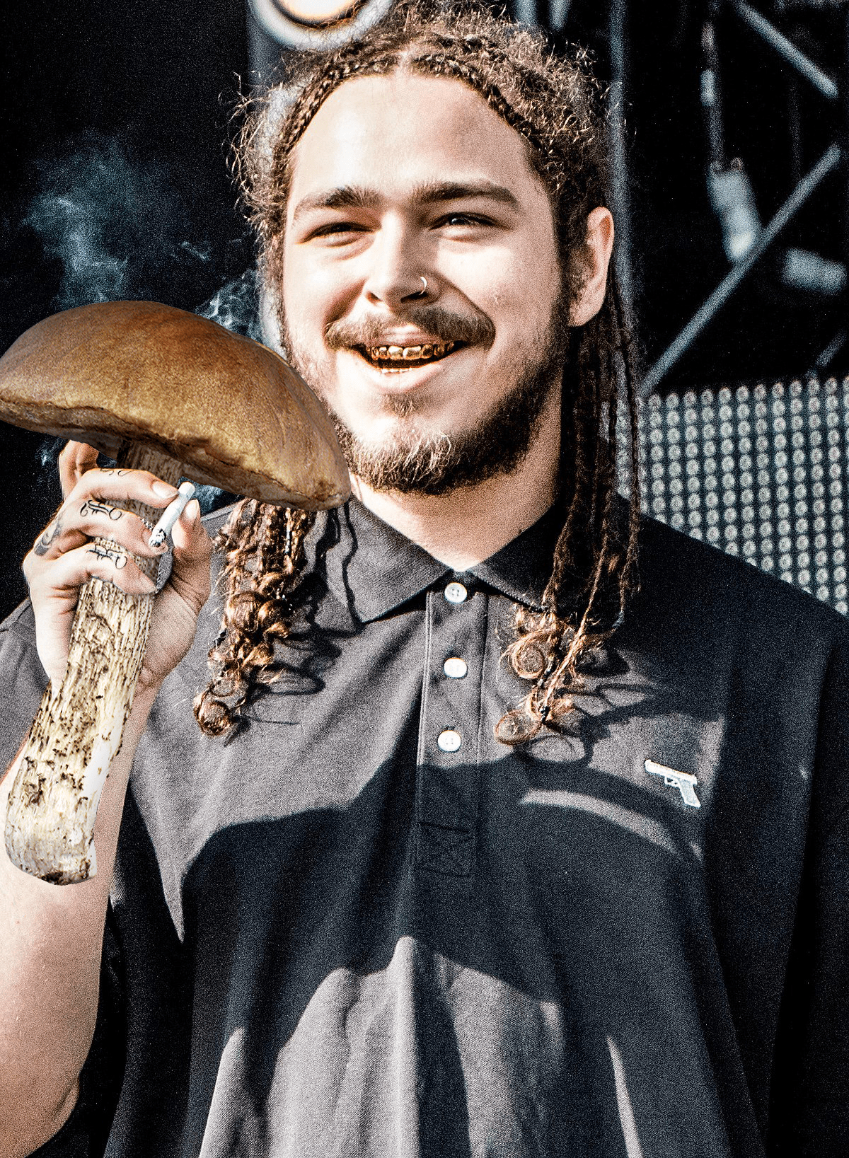 Post Malone I Fall Apart Wallpaper Post Malone Accidentally Confuses Mushroom With Microphone