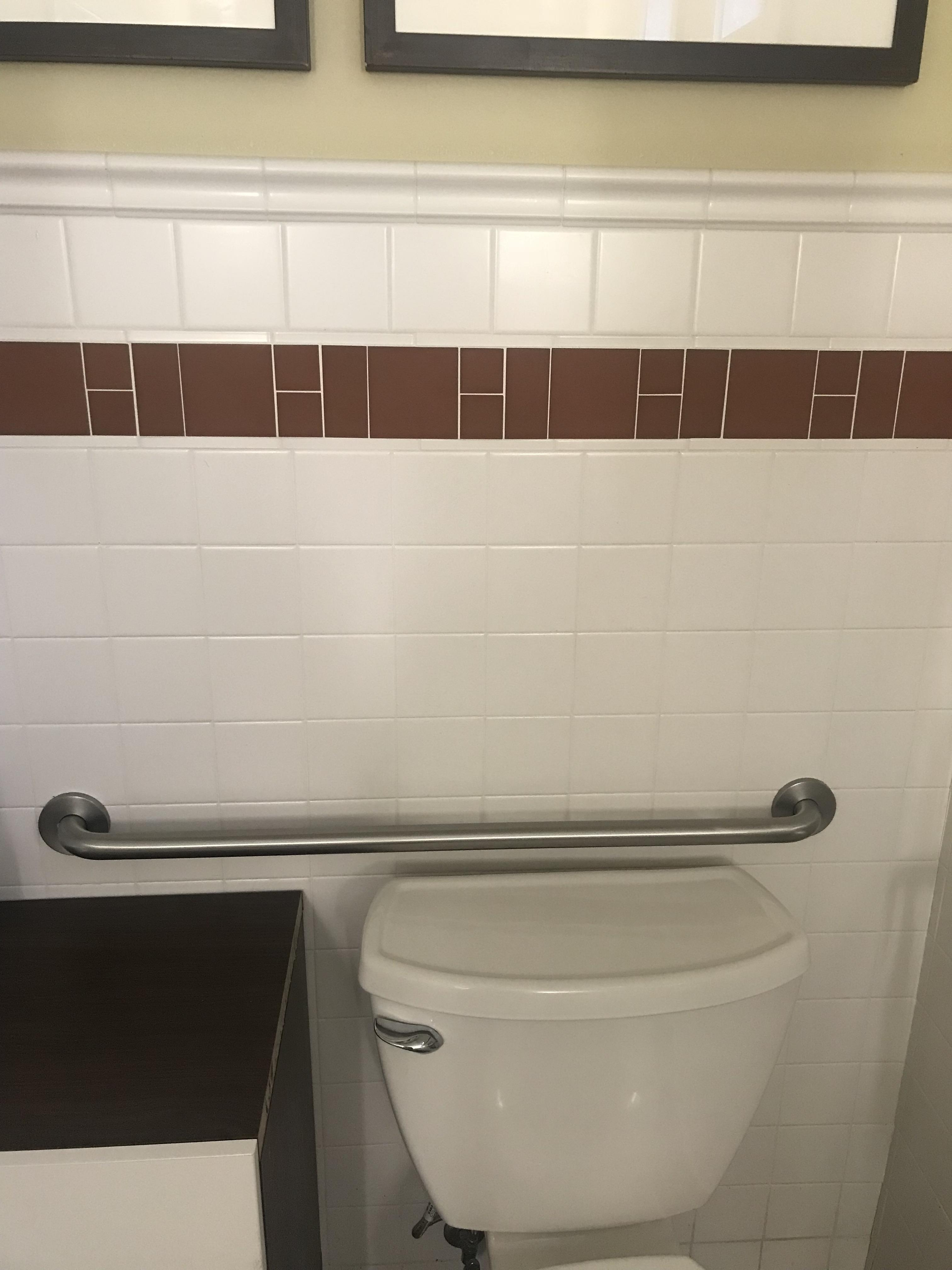 the tile backsplash in