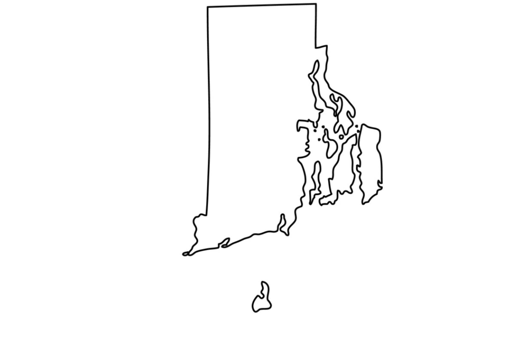 Map of the United States if Rhode Island became the