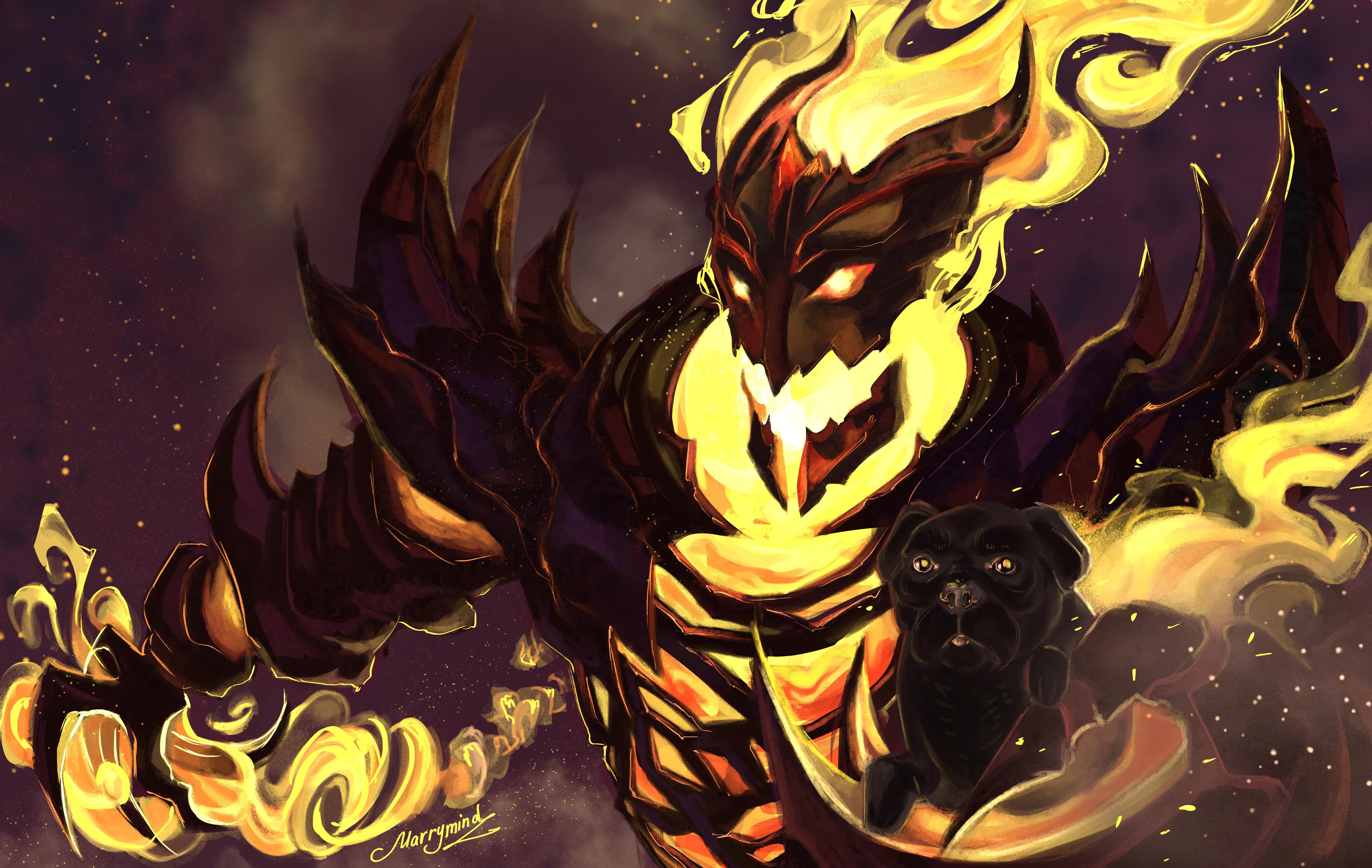 Shadow Fiend Artwork Warning Dont Look At Roo Pugs Eyes Too Much Itll Absorb Your Soul
