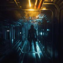 Standing In Long Creepy Hallway Retaliator