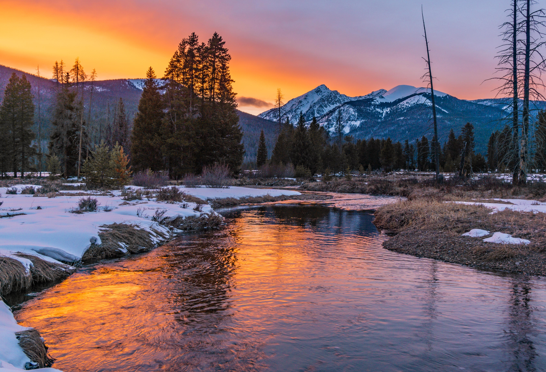 Sunset Over The Never Summer Range Rocky Mountain