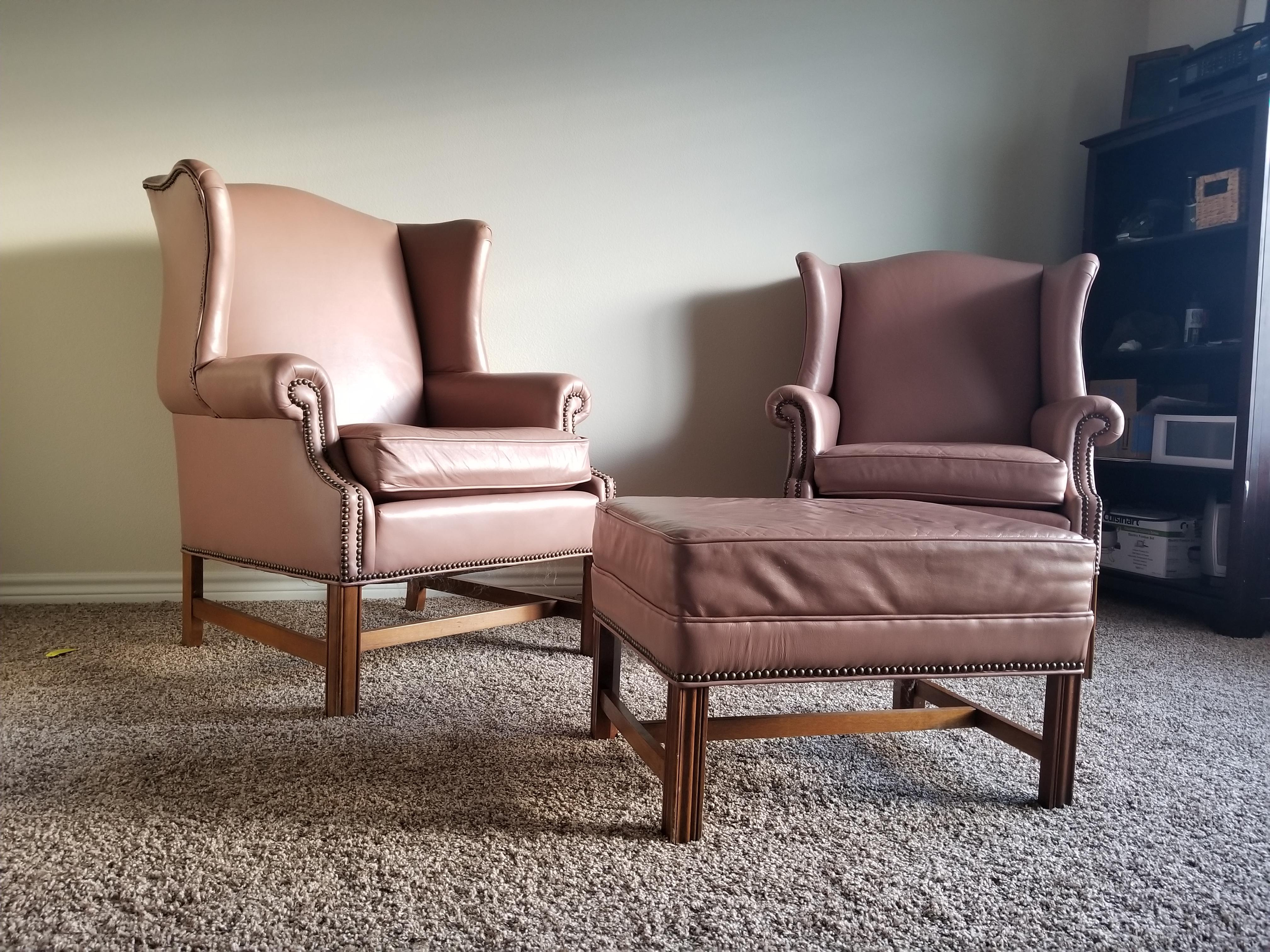 Ethan Allen Club Chairs Ethan Allen Chairs And Ottoman From Craigslist Only 100 Total