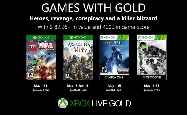 Rumor Games With Gold For May 2019 Xboxone
