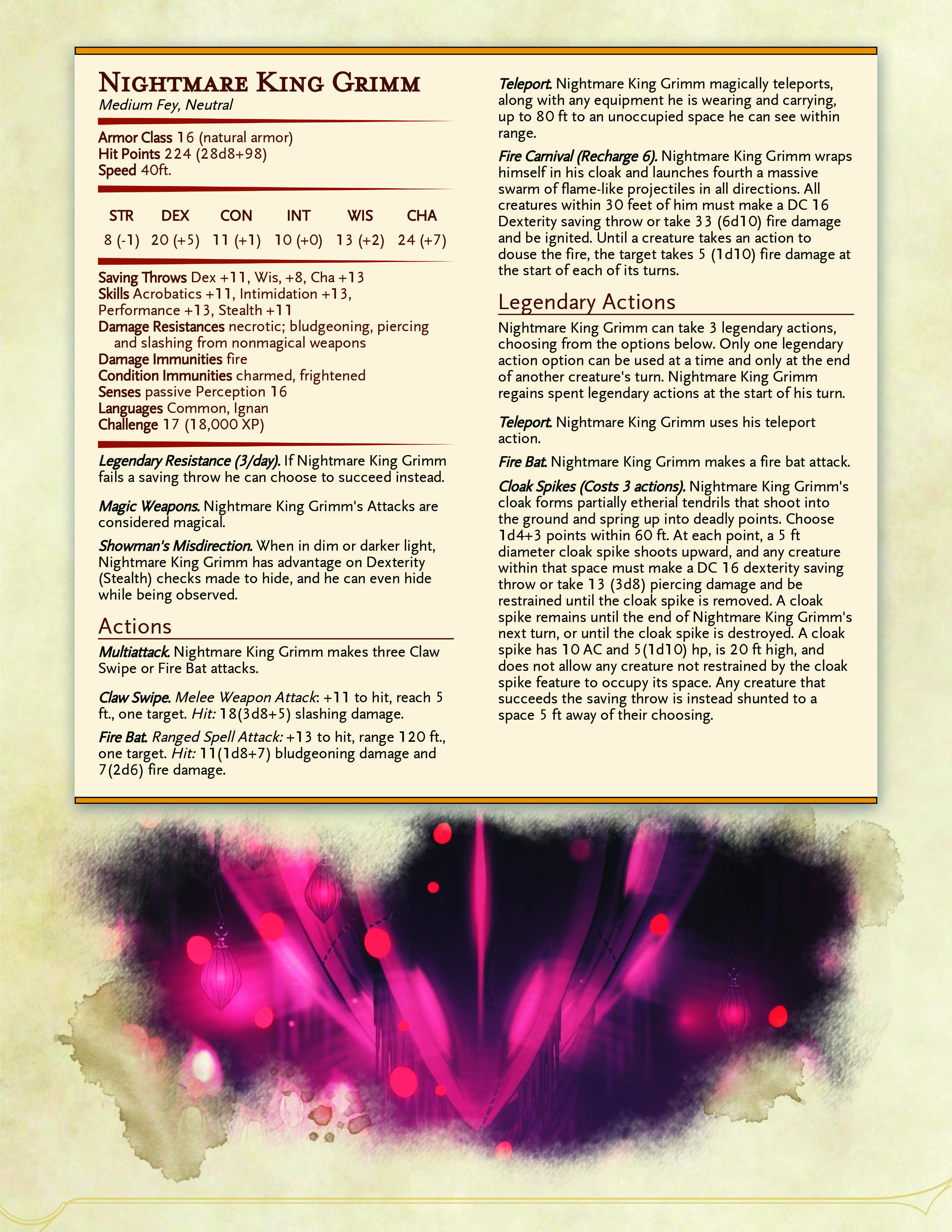 Dnd 5e Nightmare : nightmare, Nightmare, Grimm, Statblock!, Comments), HollowKnight
