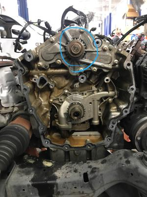 2010 Ford Taurus Water pump failed (likely overheat