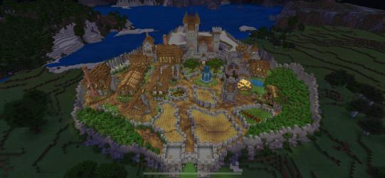 DAY 19 of my Medieval town in SURVIVAL! Currently working on the docks can you guys suggest things to build other than boats? : Minecraft