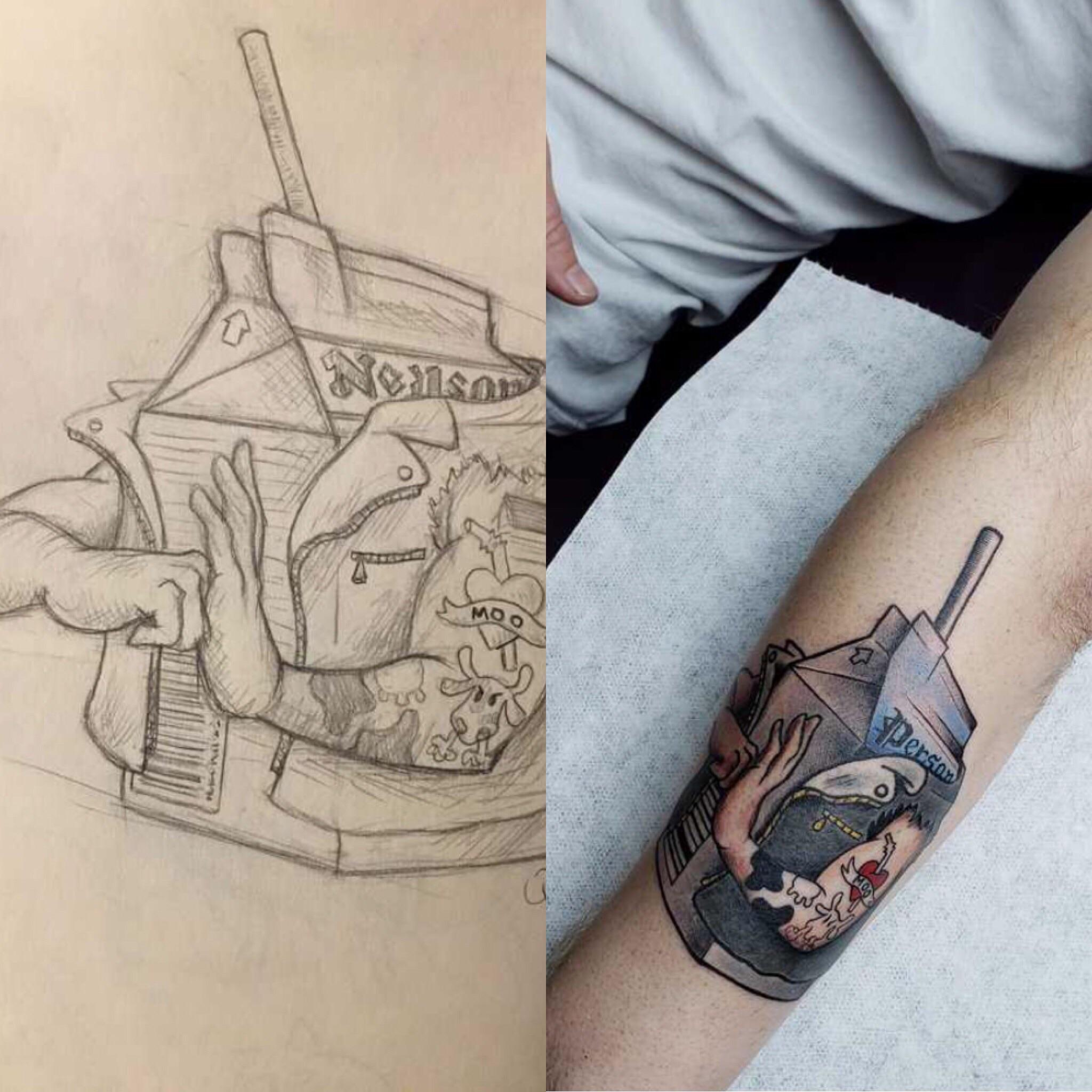 Saw Tattoo Drawing