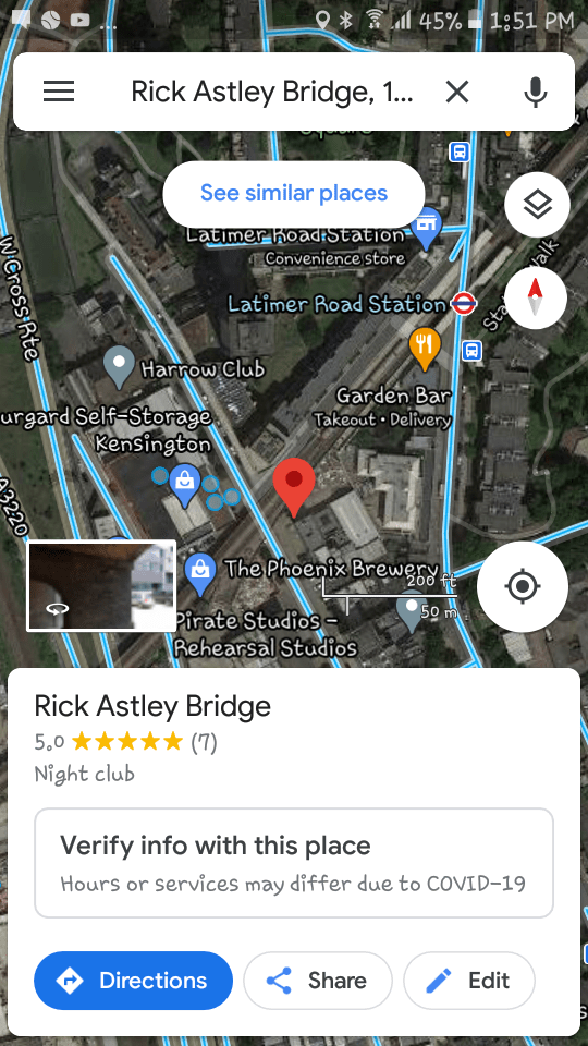 Google Maps: Now with free rickrolls : googlemapsshenanigans