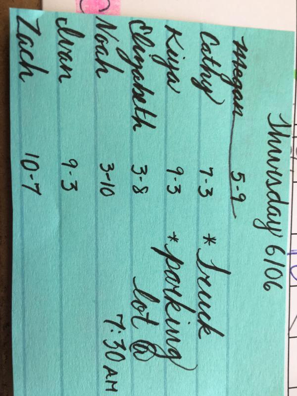 Of Coworkers Wrote Schedule Fancy
