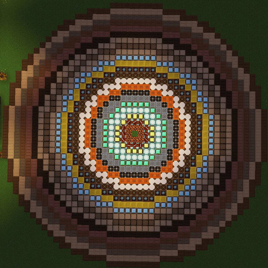minecraft circle diagram wiring of a car horn made to show all the different sizes circles