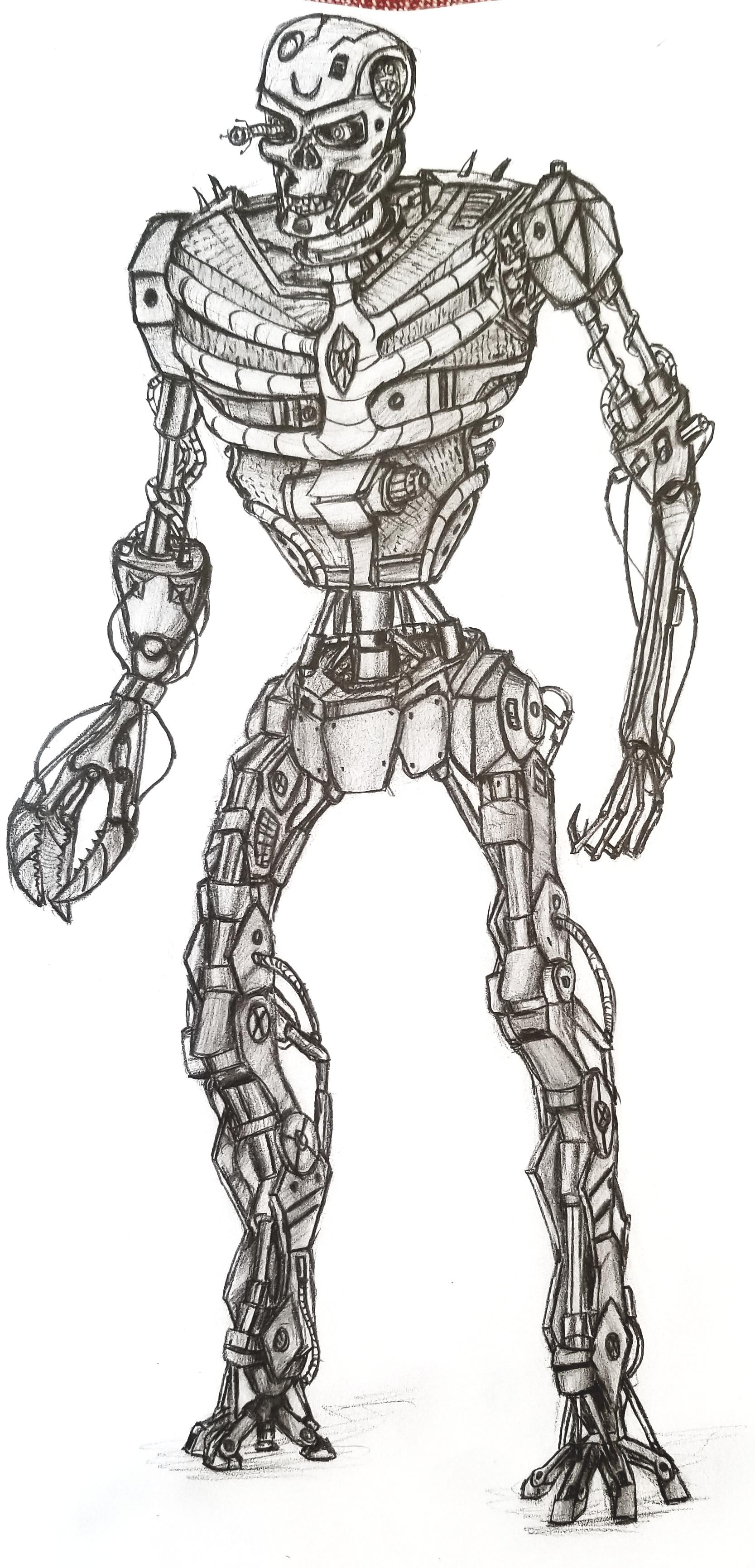 I tried to draw different version of terminator : drawing