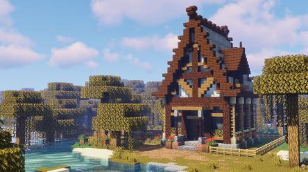 A small fantasy house : Minecraft