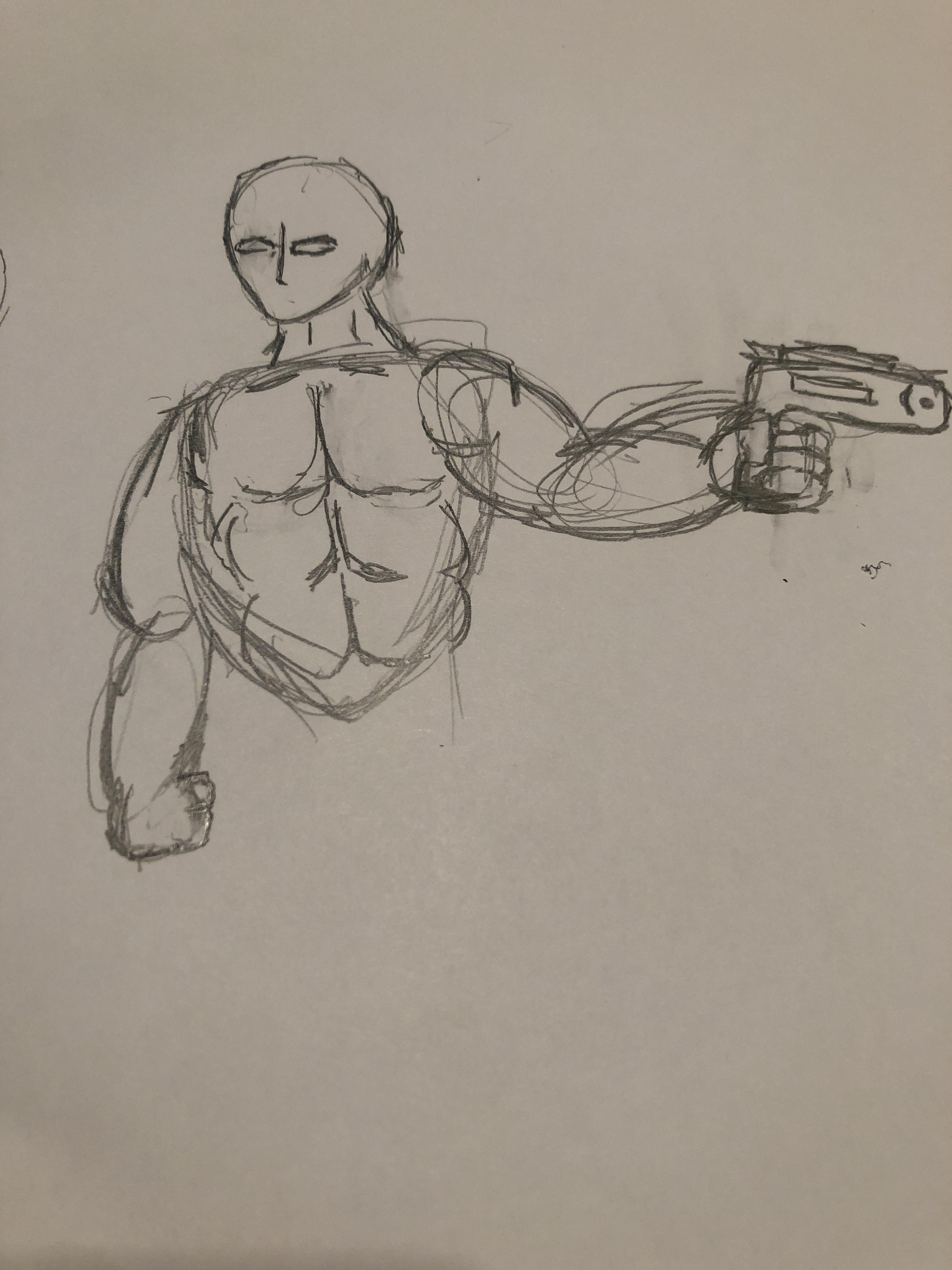 Buff Guy Drawing : drawing, Drawing,, マネキン, Drawing