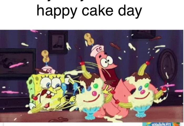It Is Spongebob S Cake Day Everybody Wish Him A Happy Cake Day May 1