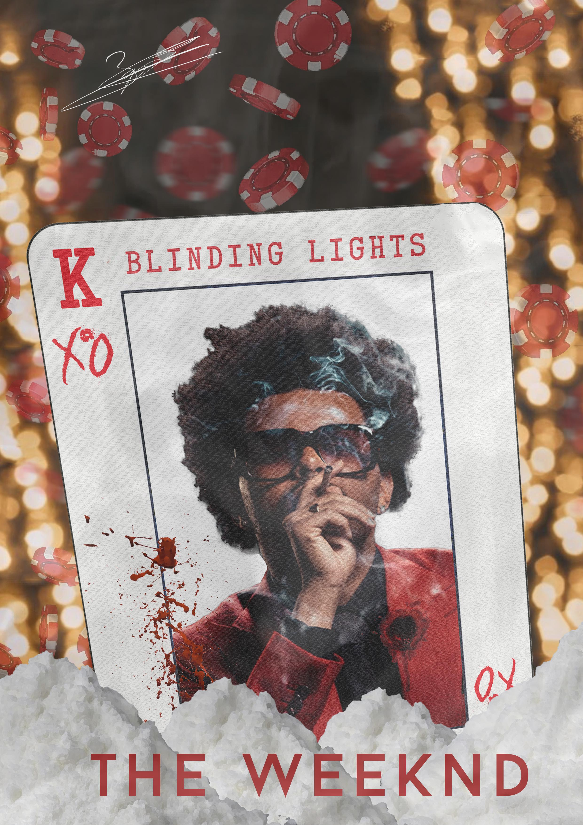made a blinding lights poster theweeknd