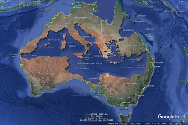 Mediterranean Sea of Australia - Bret Drager : MapPorn