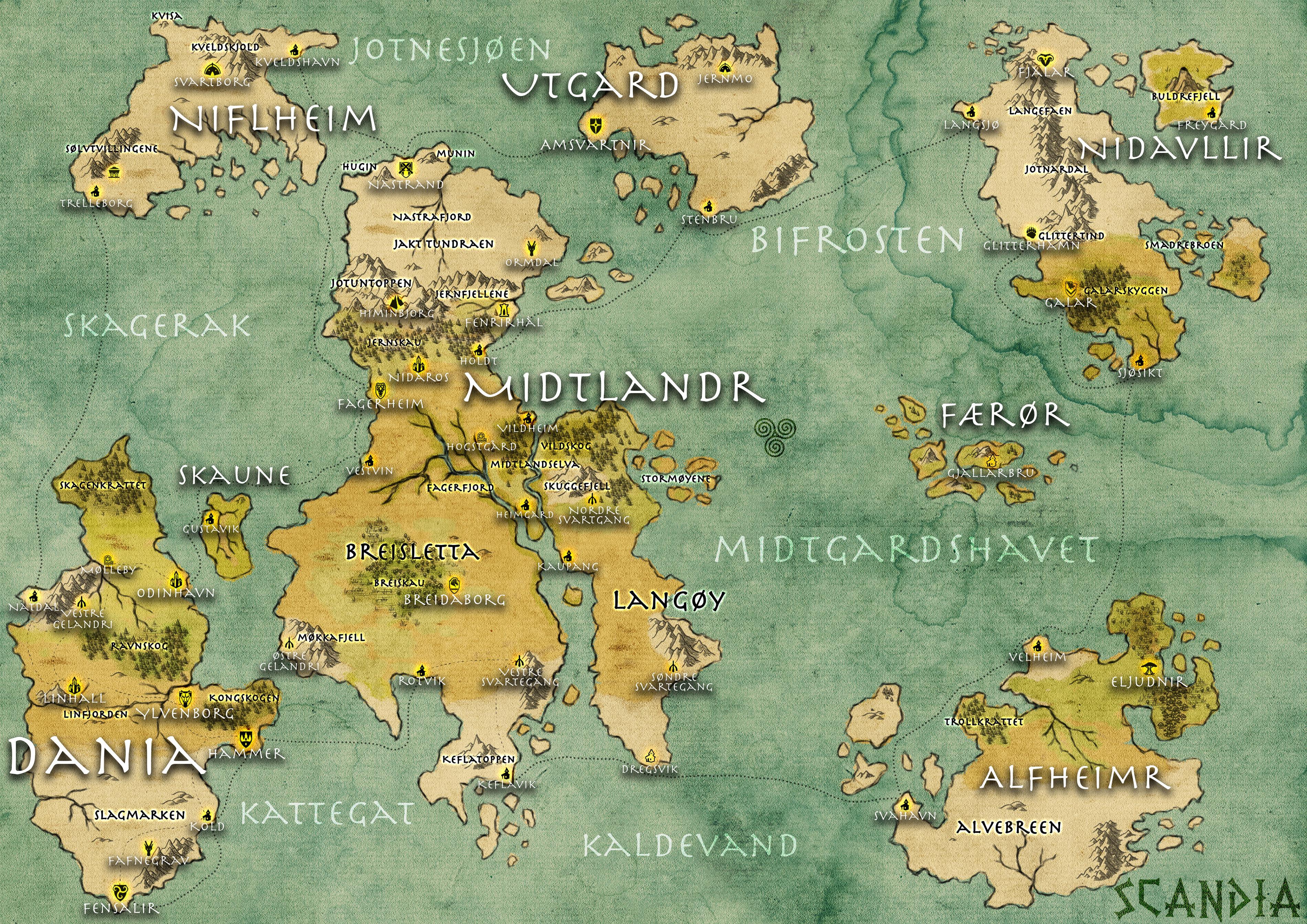scandia made a map