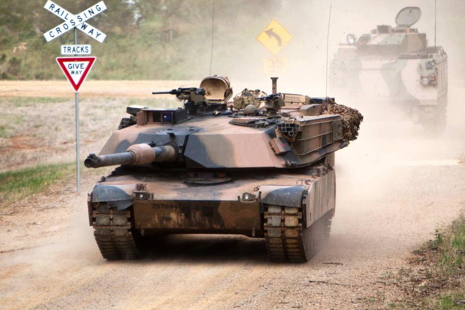 Australian M1A1 Abrams on a training exercise : Warthunder
