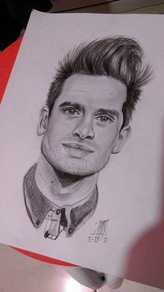 Brendon Urie Drawing : brendon, drawing, Graphite, Portrait, Brendon, Drawing