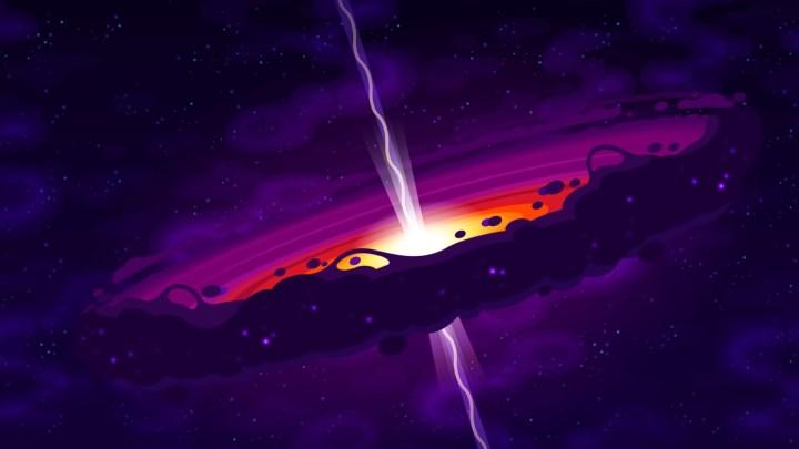 [1920×1080] Black Hole. By kurzgesagt.