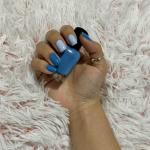 Two Shades Of Blue Nails