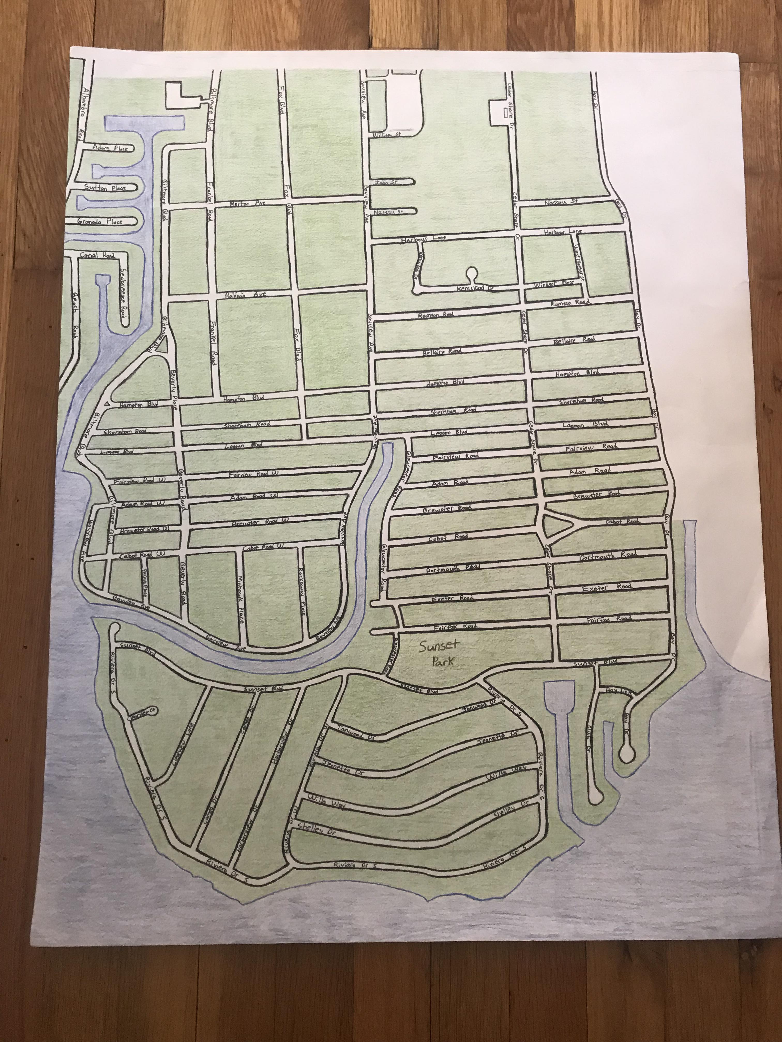Close To Finishing My First Map Of My Neighborhood