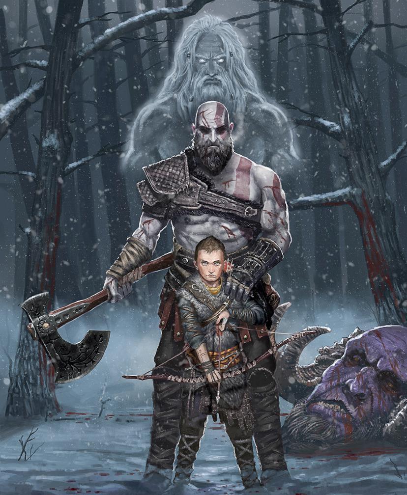 God Of War Atreus : atreus, Kratos,, Atreus, GodofWar