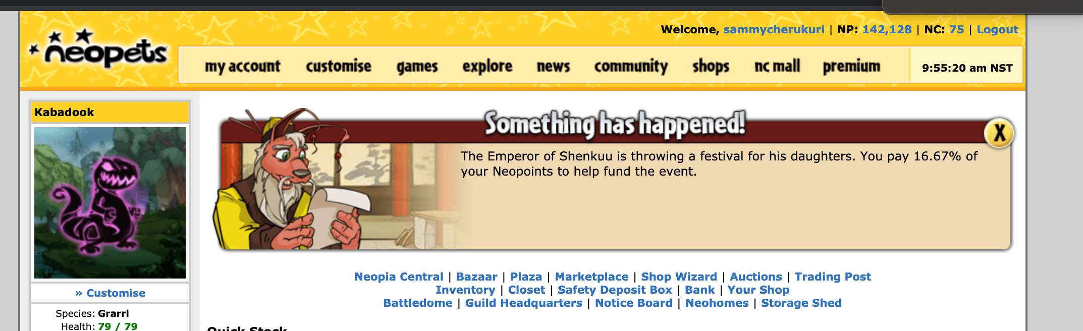 And This Is Why I Keep Most Of My Neopoints In The Bank Lmao Neopets