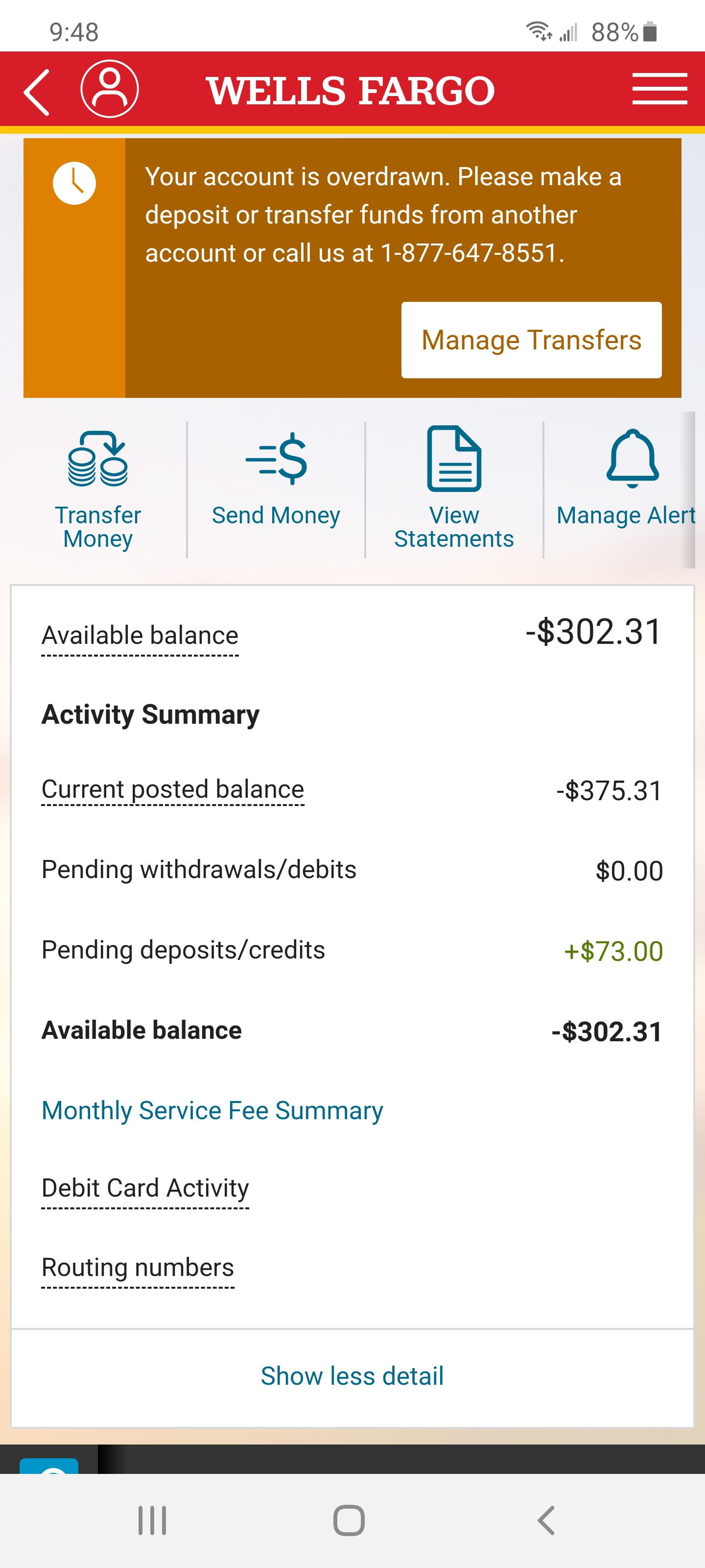 Yay My Bank Called Me Today To Say They Are Closing My Accout Out For Being In Negative For Only 13 Days And This Is The Account The Irs Has Thanks Wells Fargo