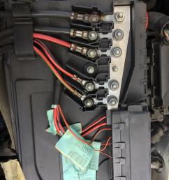 vw polo 2005 1 4 this is the fuse panel above the battery the far above the battery fuse box [ 2448 x 3264 Pixel ]