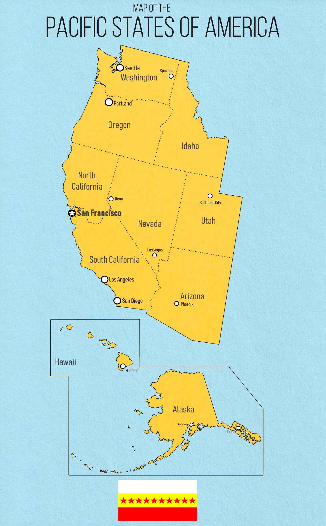 Pacific States Of America Imaginarymaps