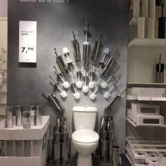 Iron Chair Price Cover Vendors Game Of Thrones: Ikea Has Throne Toilet Display | Time