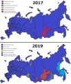 Map Of Political Parties Controlling Russian Regions Before And After 2018 2019 Regional Elections Mapporn