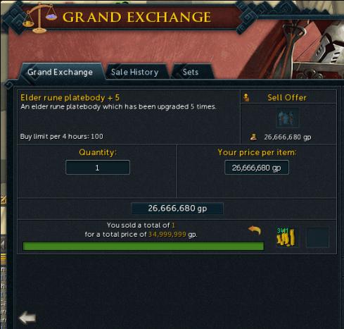 Made a decent amount of money already : runescape